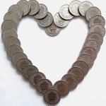 pénz szív